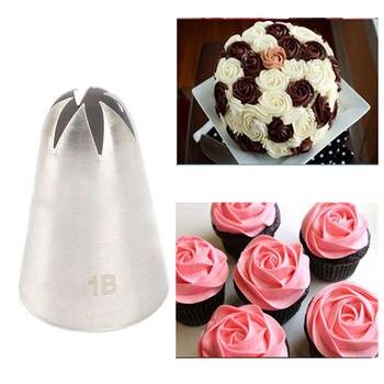 TTLIFE Large Size Cream Nozzle Decorating Tip Icing Cake & Baking Tools for Fondant Bakeware #1B