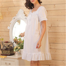 2018 Brand Sleep Lounge Women Sleepwear Cotton Nightgowns Sexy Indoor Clothing Home Dress White Nightdress Plus Size #P3