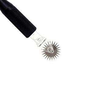 Image 2 - Полуперманентный макияж одноразовые микроблейдинг игольчатый ролик легкий цвет микроблейдинг лезвия для тумана бровей с черной ручкой татуировки иглы для микроблейдинга