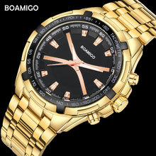BOAMIGO Brand Men Watches Fashion Sports Quartz Watch For Man Luxury Steel Band Wristwatches Male Clock Relogio Masculino