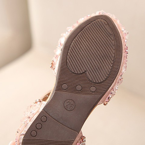 Sandals for Girls Summer Children Kids Baby Girls Bowknot Crystal Princess Sandals wedding shoes #TX4 Multan