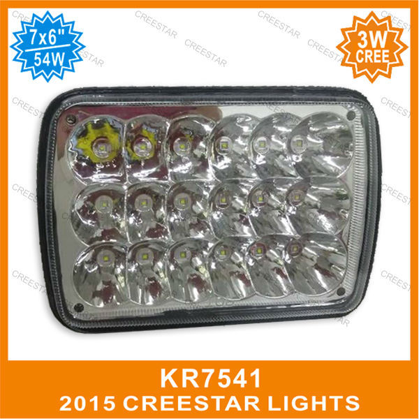 7х6 дюймов 54w светодиодные герметичные пучка с сапуна, используемые для трактора Кенворт KR7541 6х7 Сид высокий низкий луч светодиодные уплотнение 7х6 свет 12V