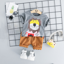цены Baby Boy Summer Clothes Newborn Baby Boys Clothes Set Cotton Casual Baby Tracksuit 2pcs (T-shirt+Shorts) Cartoon Infant Clothing