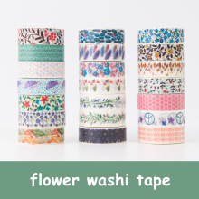 20 pieces lot DIY Scrapbooking 15mm Flower Washi Tape Floral Tape Lot