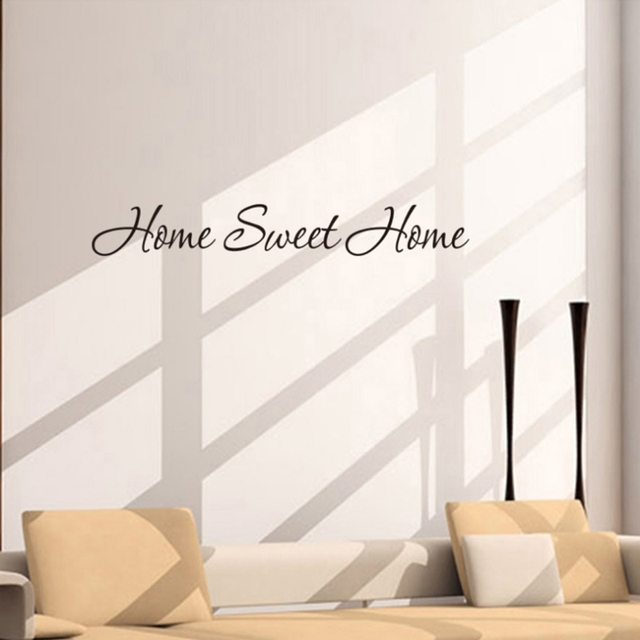 Fashion Design DIY Letter Quote Home Sweet Home Wall Stickers Home  Decoration Art Mural Decal Jul5 Part 62