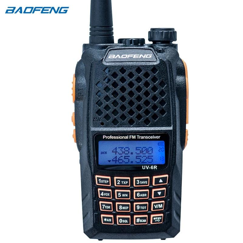 bilder für Baofeng uv-6r walkie talkie professionelle cb radio dual frequency 128ch lcd-display drahtlose baofeng uv6r tragbare radio