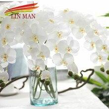Для вечеринки шелк искусственный цветок орхидеи головок, Бабочка цветы орхидеи для Свадебные украшения