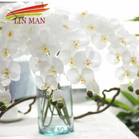 For Party Silk Orchid Artificial Flower Heads Butterfly Orchid Flowers For Wedding Decoration