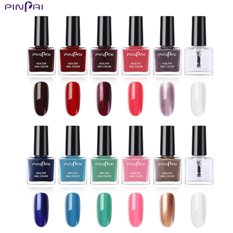 Pinpai 6ML Nail Polish Gorgeous Color  Gel Top Coat Base Varnishes gel lacquer Glitter