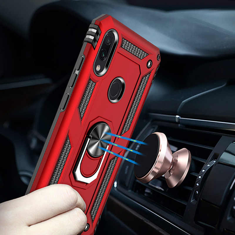 H&A Luxury Shockproof Phone Case For Xiaomi Redmi Note 7 7 Pro Magnetic Ring Stand Phone Cover For Redmi 7 Case