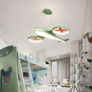 Modern led Pendant Lights Children's room boy aircraft light personality creative cartoon girl LED bedroom Pendant Lamp Fixtures