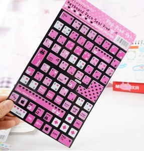 Hot-selling 2013 keyboard stickers laptop keyboard film keysters cartoon stickers colorful stickers