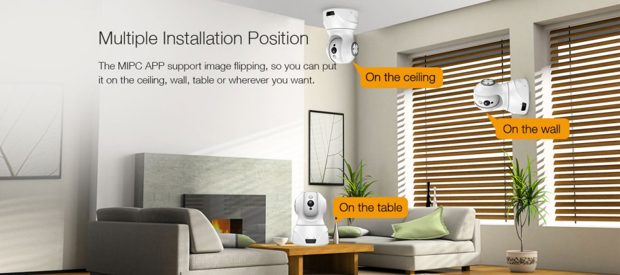 Smart WIFI PTZ FHD IP Cloud Camera with Alexa Voice Control Auto Smart Tracking Face Detection Sound Detection for Motion Alarm_F15
