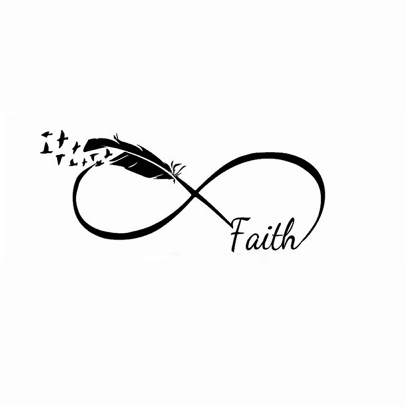 God Faith Wall Stickers Home Decorpersonalized Infinity