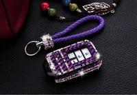 Luxury Diamond Car Key Cover Case Holder Chain For Honda Civic 10th Pilot CR V MK10 Accord Spirior XR V 2/3/4 Button Key Protect