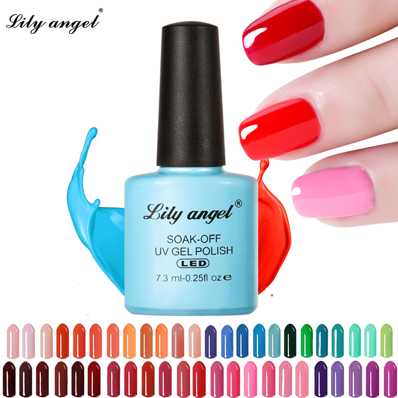 LILY ANGEL Nail Art Design Manicure  110 Color 7.3Ml Soak Off Enamel New Gel Polish LED UV Gel Nail Polish Lacquer 1-38