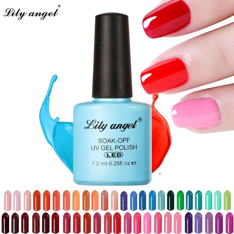 LILY ANGEL Nail Art Design Manicure  110 Color 7.3Ml Soak Off Enamel New Gel Polish LED UV Gel Nail Polish Lacquer 1-38