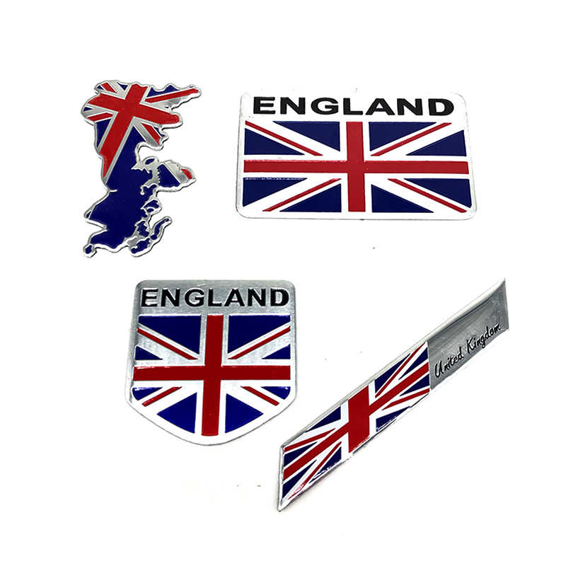Aluminum Alloy  England National Map Flag Car Body Sticker Motorcycle Decal Exterior Decorating Accessories For Yamaha Halley