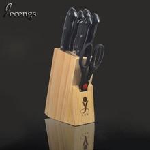 Punto de pino madera Portaherramientas bloque del cuchillo de rack cuchillo de cocina molienda insertar Portaherramientas rack de almacenamiento multifunción