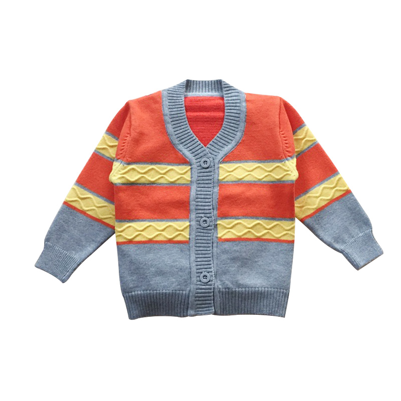 Casual Baby Boys Cardigan Sweater Soft Cotton Newborn Baby Sweater Classic Striped Autumn Cardigan For Girls Baby Boys Clothing