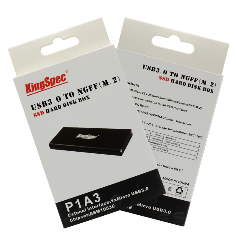 Kingspec Aluminum Ssd Enclosure M2 Ngff To Usb3 0 M 2 Solid State