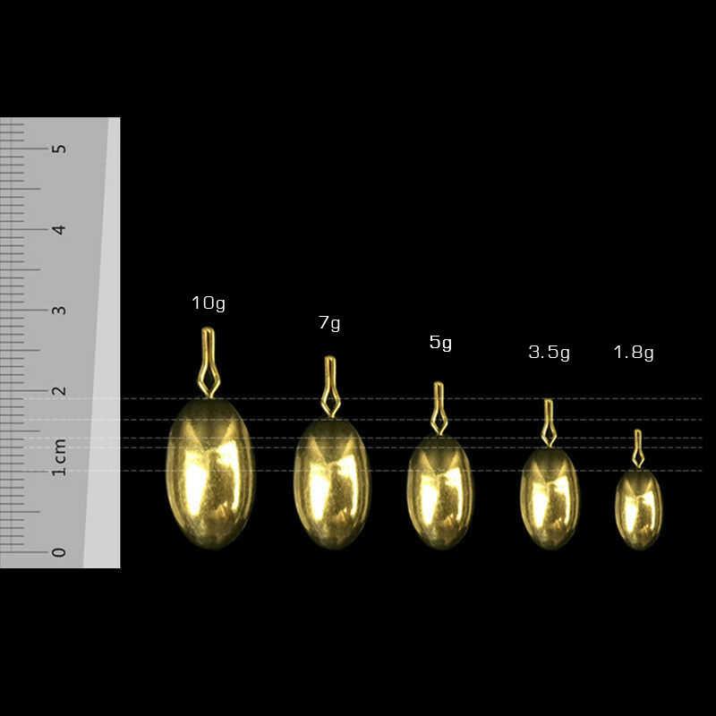 20 יח'\סט עמיד משקולות דיג Drop Shot 1.8g/3.5g/5g/7g מלוחים להתמודד משקולות וו עופרת פליז חיצוני אבזרים