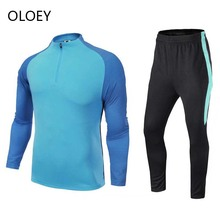 OLOEY Winter tracksuit men long sleeve football training track suit 2019 Running sweat set joger for male 2 piece sportsuit