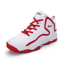 Унисекс Демисезонный спортивная обувь женские кроссовки мужские Air Кроссовки красный черный, белый цвет Баскетбол Ботинки indoor кроссовки Basket Femme