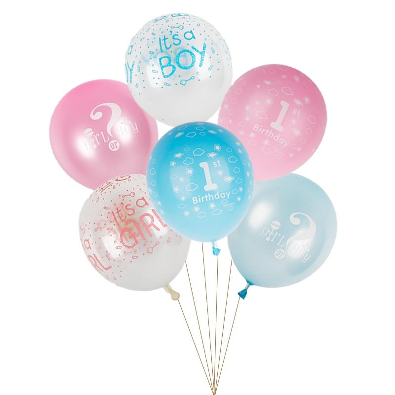 12 Azul es un niño Globo De Látex Fiesta Baby Shower Bautizo Decoración Helio