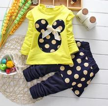 Baby girls clothing set cartoon minnie mouse children casual tracksuits dot  kids clothes sets sports for girl 2pcs Outfits suit