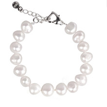 [NYMPH] pearl bracelets natural pearl jewelry baroque natural fresh water pearl bracelet for women S89(China)