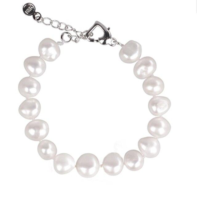 [NYMPH] vòng tay ngọc trai tự nhiên trang sức ngọc trai baroque tự nhiên nước ngọt ngọc trai vòng đeo tay cho phụ nữ S89