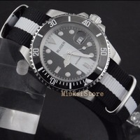 BLIGER 40mm Cerâmica Moldura Luminosa sapphire automatic Data Day mens watch montre Analogique pulseira Marque Luxe Ray Homme Relógios mecânicos     -