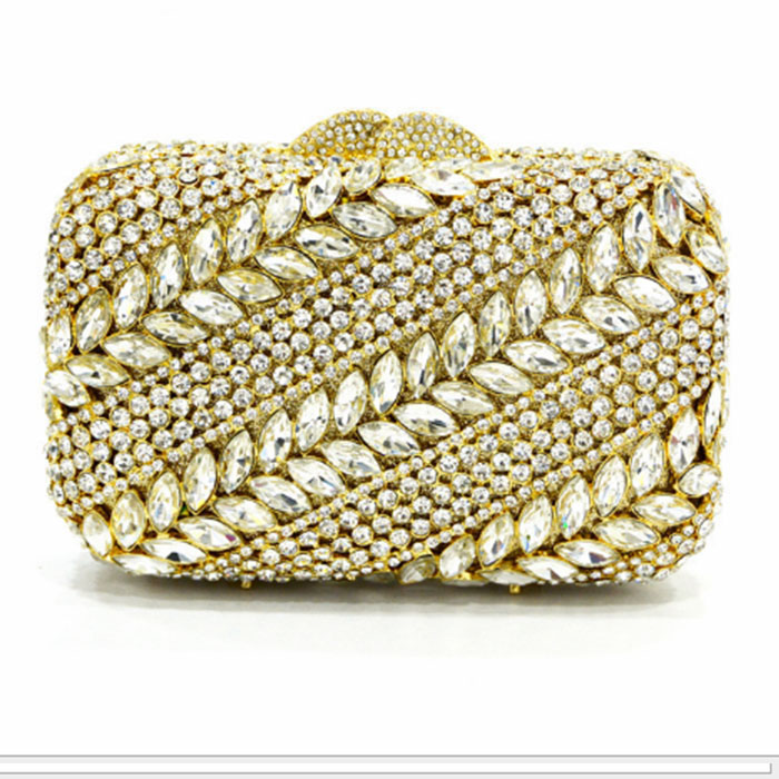 Top-handle Bags Women's Bags Luxury Crystal Evening Bag Clutch Diamond Party Purse Pochette Soiree Women Evening Handbag Wedding Clutch Bags For Party/prom