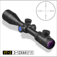 DISCOVERY OPTICS VT 2 3 12x44 SFIR optical sight tactical riflescope illumination reticle Locking turrets hunting rifle scope