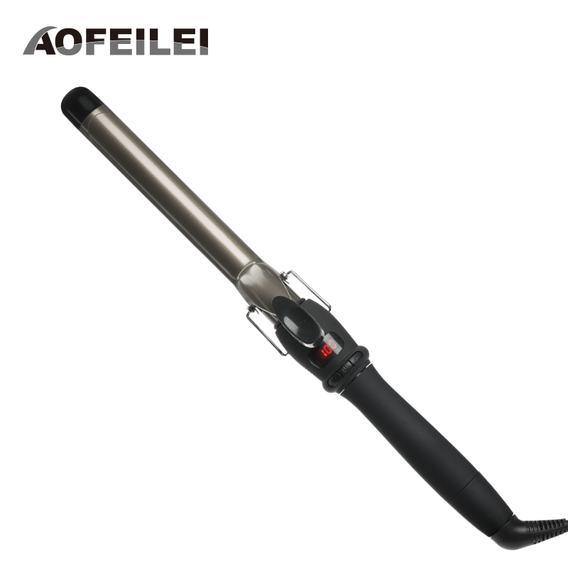 Digital Temperature Control Styling Tools Ceramic rotating Hair Curling Iron Hair Curler Roller Curling Wand EU Plug Flat Iron ckeyin 9 31mm ceramic curling iron hair waver wave machine magic spiral hair curler roller curling wand hair styler styling tool