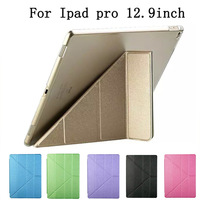 Smart Case Slim Magnetic Silk PU Leather Stand Case For Apple Ipad Pro 12 9 Tablet