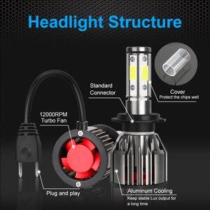 Image 3 - 4 strony 12000LM żarówki reflektorów samochodowych H4 H7 Led H8 H11 HB4 Led HB3 9005 9006 12V 24V 100W 6000K światła samochodowe żarówki światła przeciwmgielne lampy