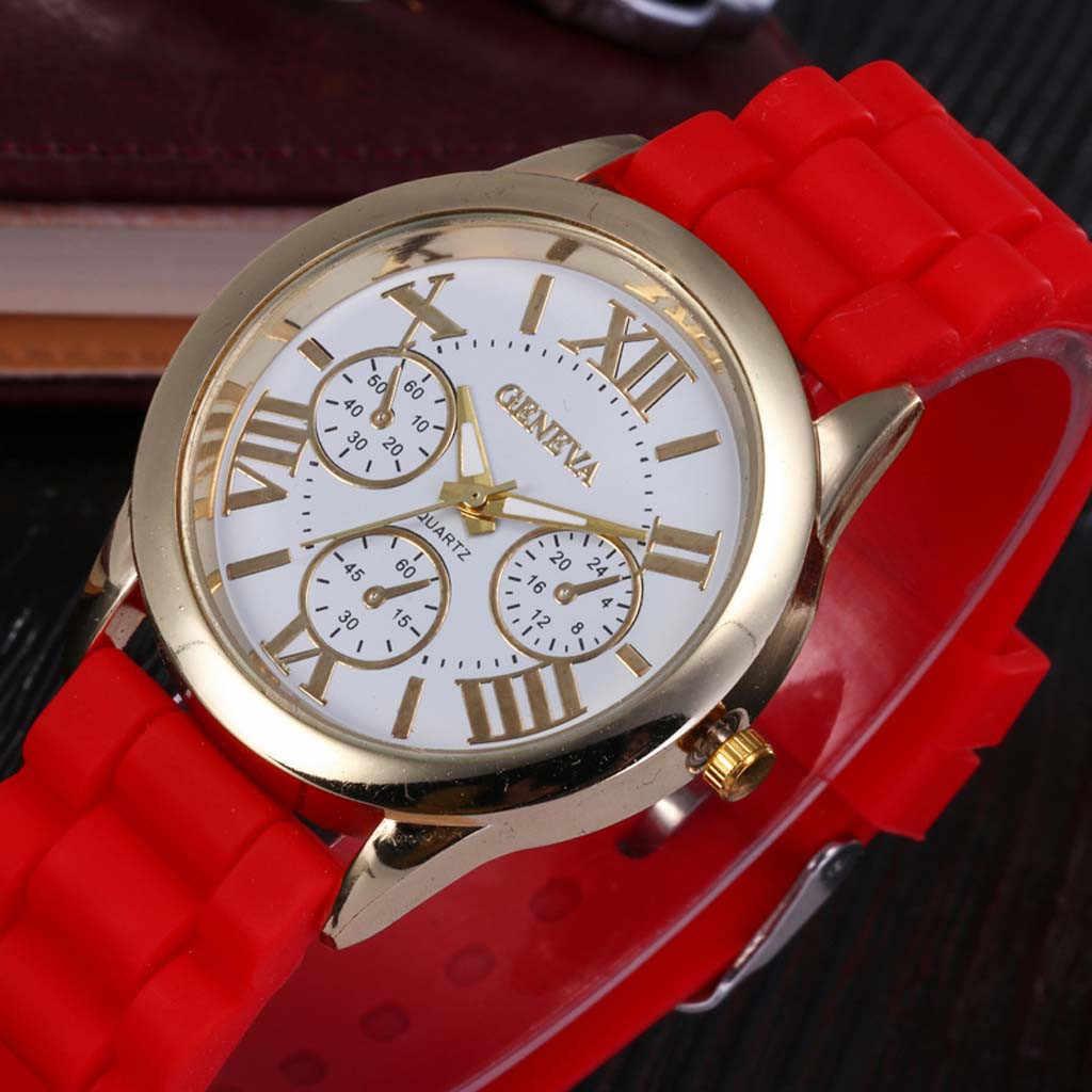 2019 Luxury Watches Men Relogio Masculino Quartz Watch Three Eye Roman Scale Dial Casual Silicone Strap Band saat Wristwatches