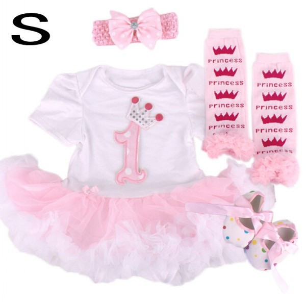 Cotton 1set Baby Girl Infant baby girls clothes christmas costumes infant jumpersuit+socks+band+shoes free shipping