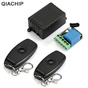 Image 1 - QIACHIP 433MHz Universal Wireless Remote Control DC 12V 1CH Relay Receiver Module RF Switch 1 Button Remote Control Gate Garage
