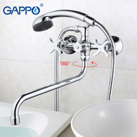 GAPPO Bathtub Faucet Bathroom Faucet Torneira Wall Mount Mixer Tap Set Sink Waterfall Double Handle Bronze