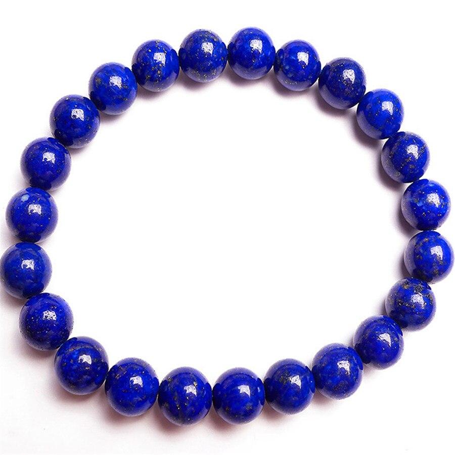 8.5 millimetri Genuino di 100% Profondo Blu Lapis Lazuli Naturale Braccialetto Per Le Donne Donna Rotonda di Cristallo Braccialetti con perline di Trasporto di Goccia8.5 millimetri Genuino di 100% Profondo Blu Lapis Lazuli Naturale Braccialetto Per Le Donne Donna Rotonda di Cristallo Braccialetti con perline di Trasporto di Goccia