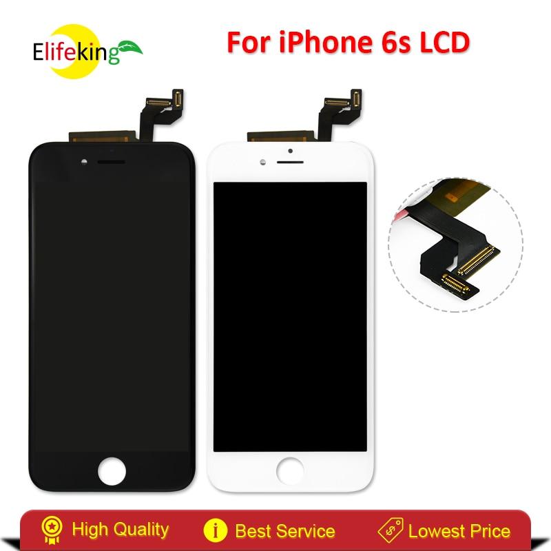 imágenes para Elifeking 100% Garantía de Prueba de Pantalla LCD Para el iphone 6 S Pantalla Táctil Con Digitalizador de Reemplazo Blanco/Negro Envío Gratis