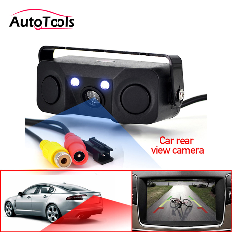 Car Parking Camera Sensor Rear View Camera with 2 Sensors Indicator Bi Bi Alarm Car Reverse Radar Assistance System tech 2 scanner for sale