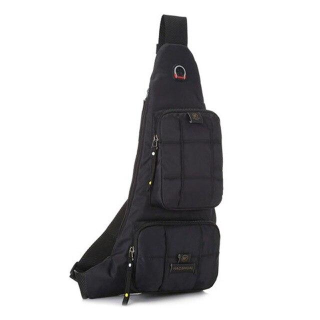 Homens Sling Peito Saco de Nylon Corpo Cruz saco do Mensageiro bolsa de Ombro Bolsa de Viagem À Prova D' Água Passeio Pedestre Escalada Militar de Volta Mochila