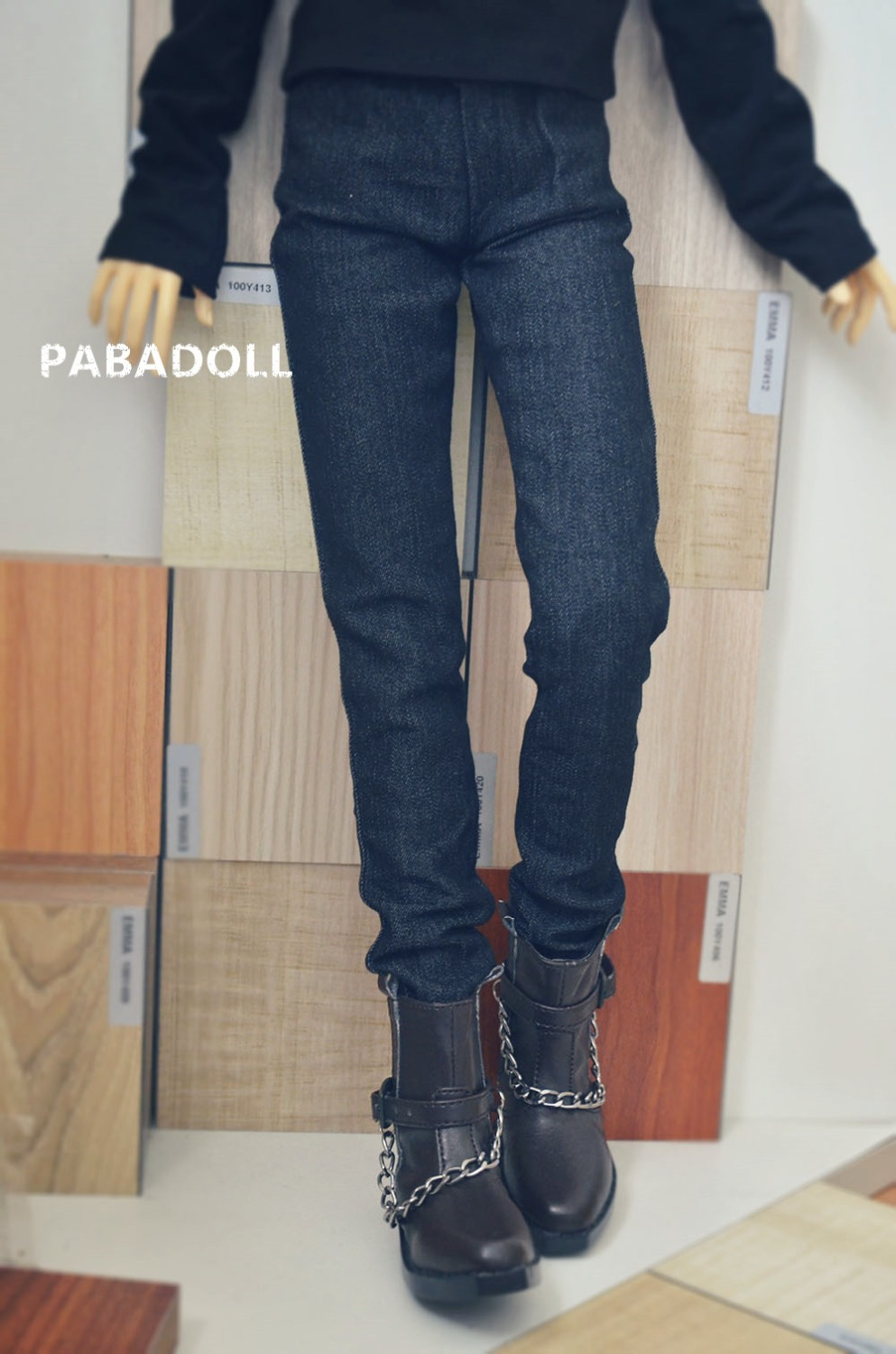 Handsome Jeans Pant for BJD 1/4 MSD,1/3 SD17,Uncle SD Doll Clothes CMB77 cool double zipper black leather pants for bjd doll 1 4 1 3 sd16 girl sd17 uncle spirit bjd sd msd doll clothes cmb68