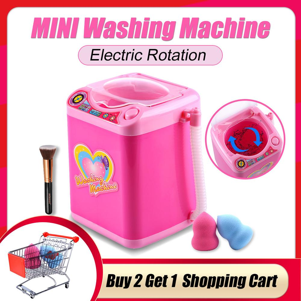 Educational Toy Mini Electric Washing Machine Children Pretend & Play Baby Kids Home Appliances Toy Dropshipping - Pink
