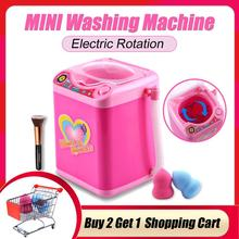 Educational Toy Mini Electric Washing Machine Children Pretend & Play Baby Kids Home Appliances Dropshipping - Pink