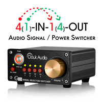 Nobsound Hi end 4 way Stereo RCA Audio Manual Switcher Box Amplifier Speaker Selector Splitter
